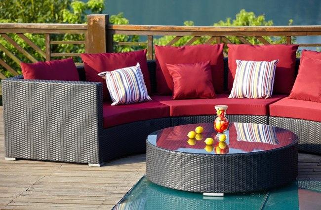 Patio leisure rattan furniture sofa sets