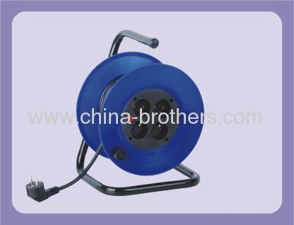 Extension cable reel with european plan and 4 socket outlet