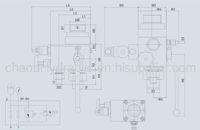AJ series control valve for accumulator
