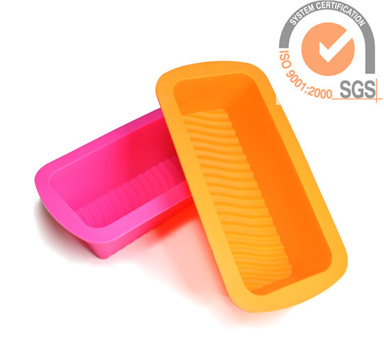 Non-stick Soft Food safe silicone oblongcheesecake molds in candy colors