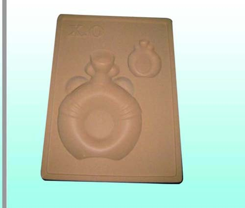 embossing silk vaccum form tray for glass bottle