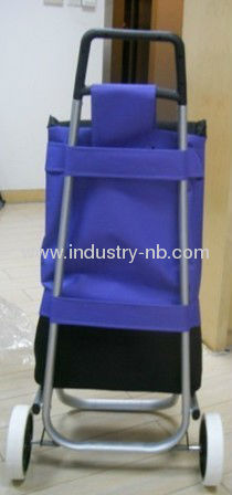 BLUE 2 Wheel Shopping Trolley