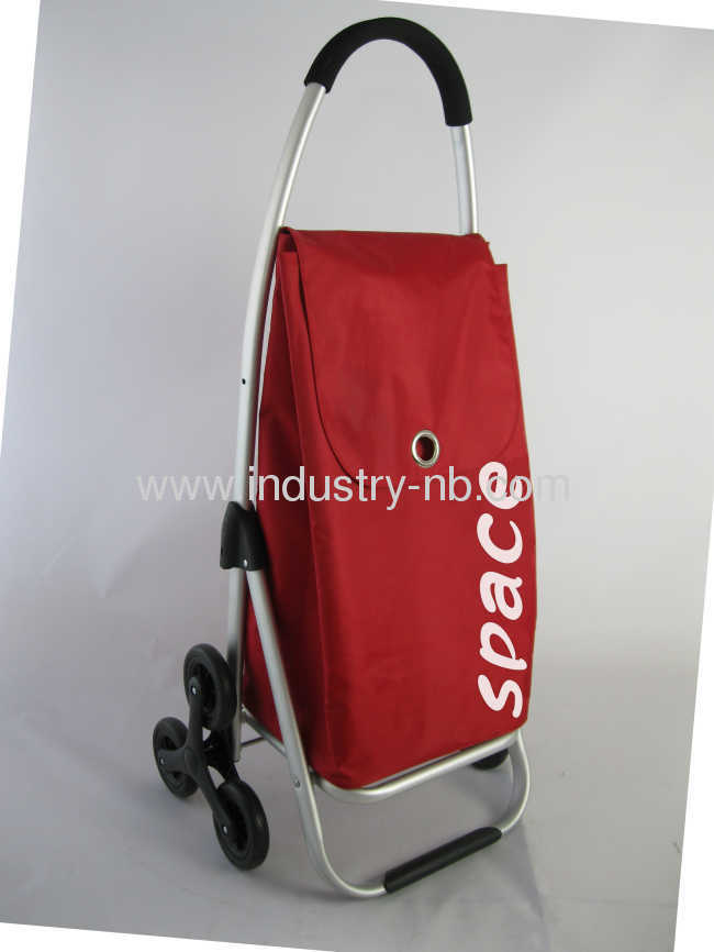 RED 2 Wheel Shopping Trolley