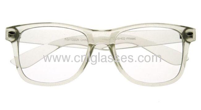 hot popular glasses plastic transparent glasses frame