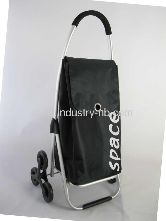 Black 2 Wheel shopping Trolley