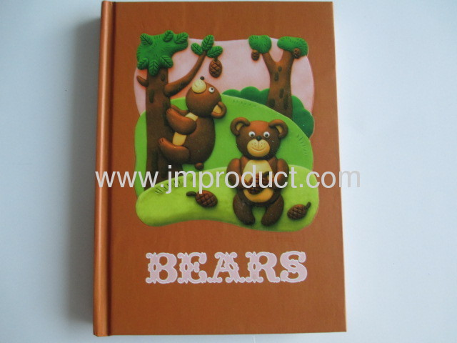 UV coating hardcover notebook