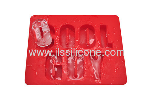 Letter shape ice cube tray with FDA/LFGB certificates