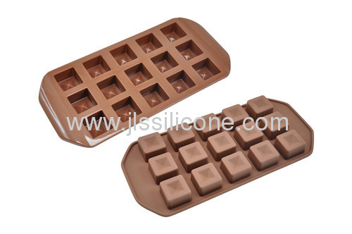 Square chocolate mold or ice cube tray with 15 cubes