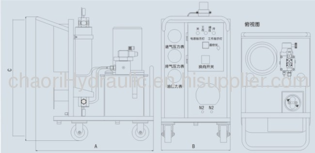nitrogen charging cart fot accumulator
