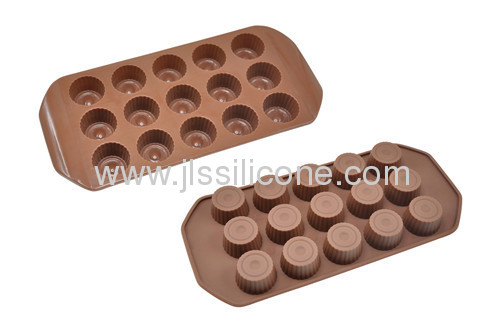 Cup shape chocolate mold with 15 cavities