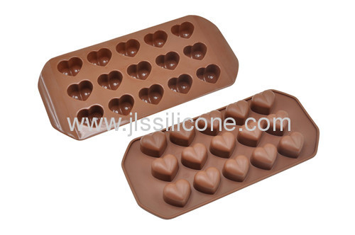 heart style silicone chocolate mold with 15 cavities