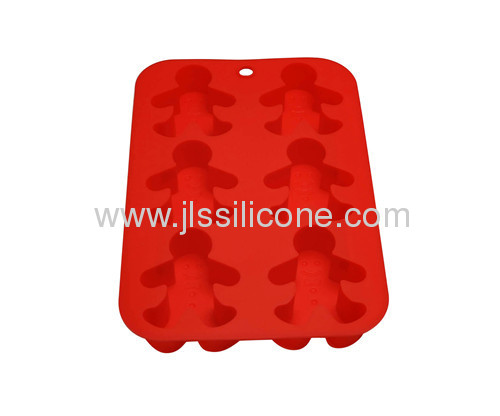 Lovely human shape silicone ice cube mold with 6 cavities