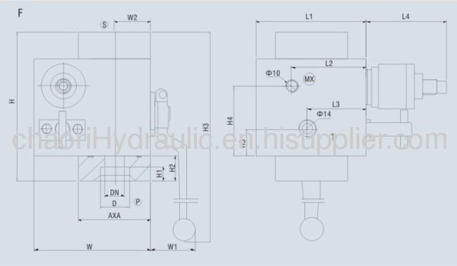 safety control valve for acumulator