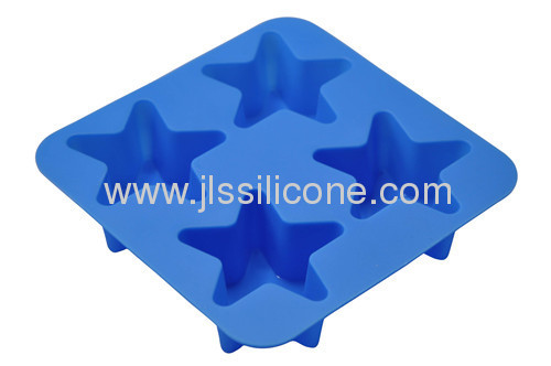 pentagram shape silicone bakeware of cake, muffin and jelly