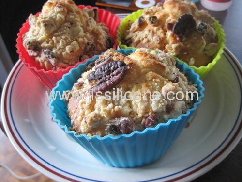 Round silicone bakeware cupcake mold