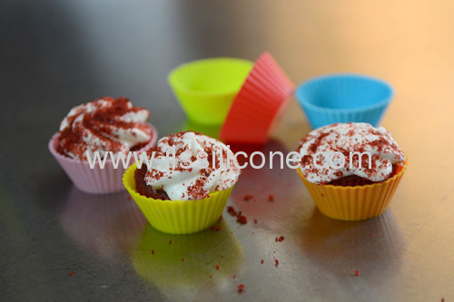 small size silicone bakeware cupcake baking mold