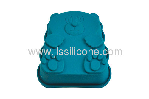 small size bear shape silicone bakeware cake mold