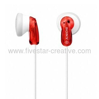 Sony MDR-E9LP Red Earbud In-Ear Headphone-Red