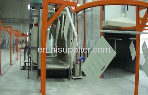 powder coating line for electrical control cabinet