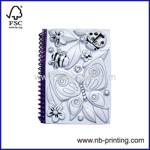 Blister material spiral notebook