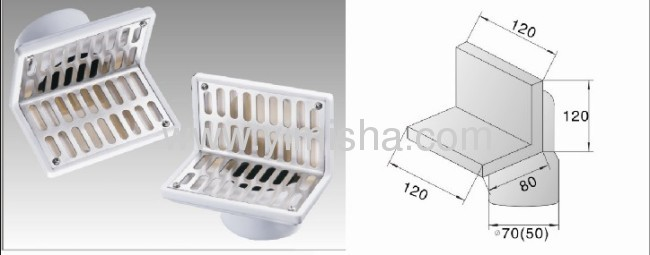 Plastic Side Wall Type Floor Drain From China Manufacturer
