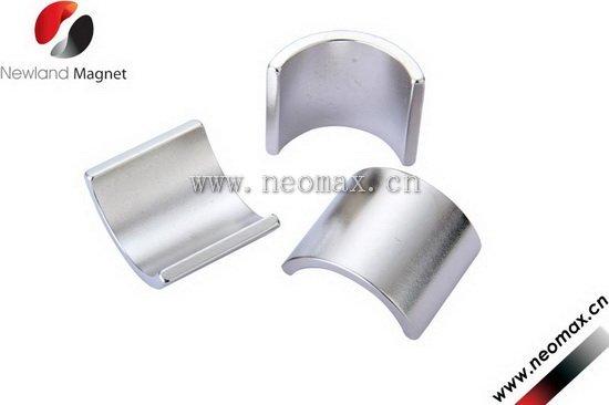 Large segment neodymium magnets