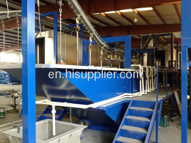spray pretreatment powder coating line