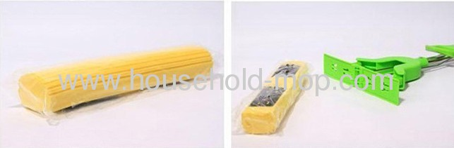 Double Roll Plastic Fork Stainless Steel Handle PVA Mop