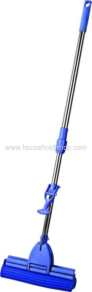120cm Length Single Roll Stainless Steel Handle PVA Mop