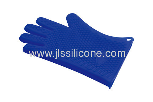 Embossed 5 fingers silicone oven glove