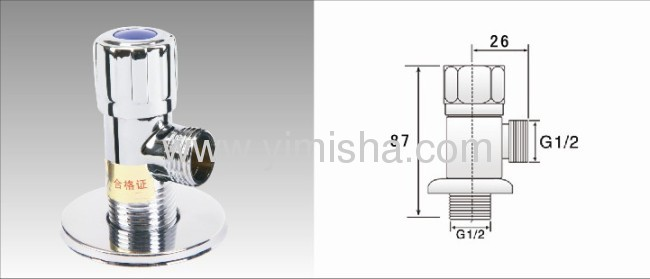 Brass Ceramic Sheet Manual Undirectional Triangle Valve for Water with Round Handle