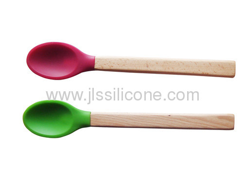 Plastic handled kitchen tools silicone spoon