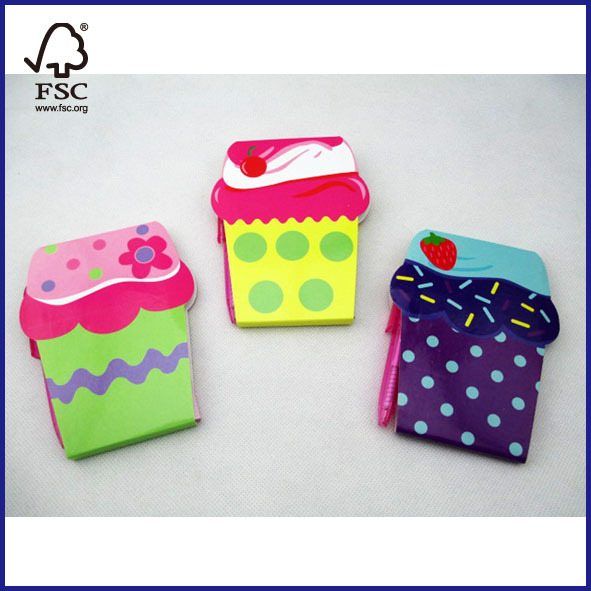 Mini colorful notebook with magic