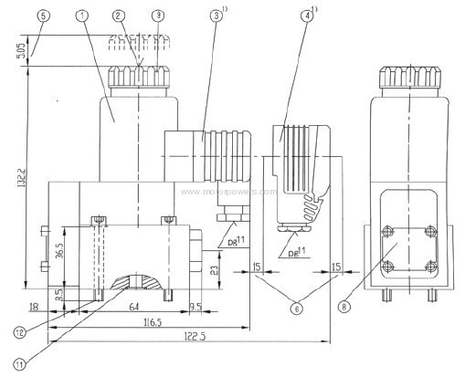 Poppet directional valves, solenoid actuated