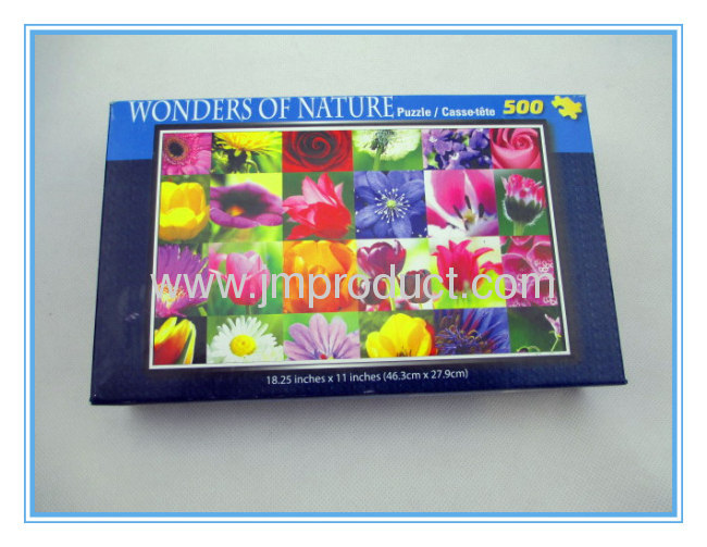 High quality 500pcs Jigsaw puzzle with hard box
