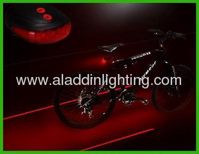 New 5 LED & 2 Laser Launcher Bicycle Tail Light Safety LED Taillight Light Red