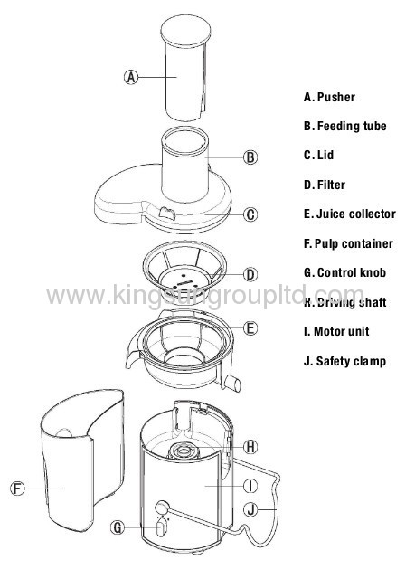juice extractor with ss safty lock