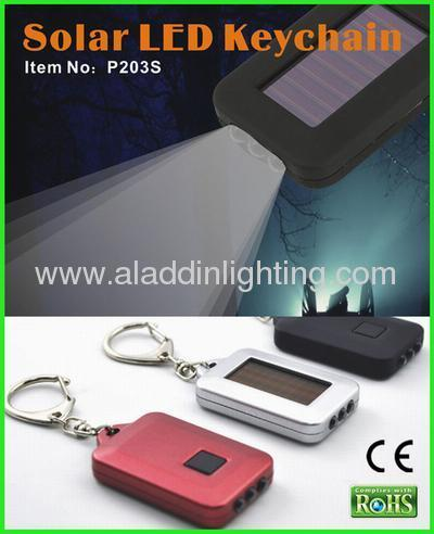 Cheapest promotional ABS LED Solar keychain