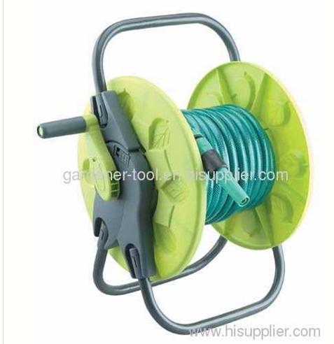 Plastic protable garden hose reel With 15M PVC Garden Hose