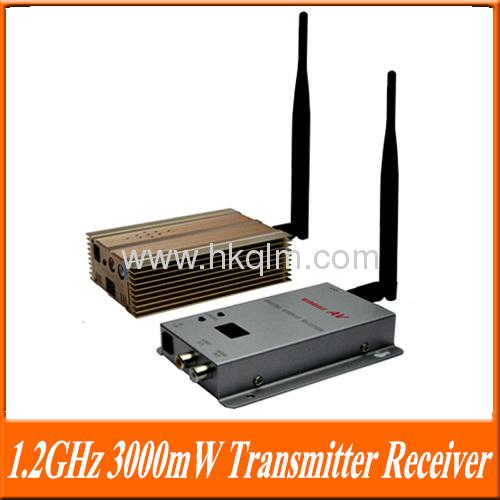 1.2GHz 3000mW 15channel Long Range 3KM Wireless AV Transmitter Receiver