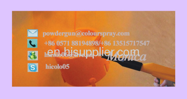 gas cylinders powder coating gun