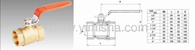 1/2~ 4Horizontal Manual Brass Bi-directional Hard Seal Ball Valve