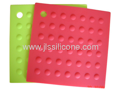 Anti slip silicone kitchen tool embossed silicone baking mat with polka dot