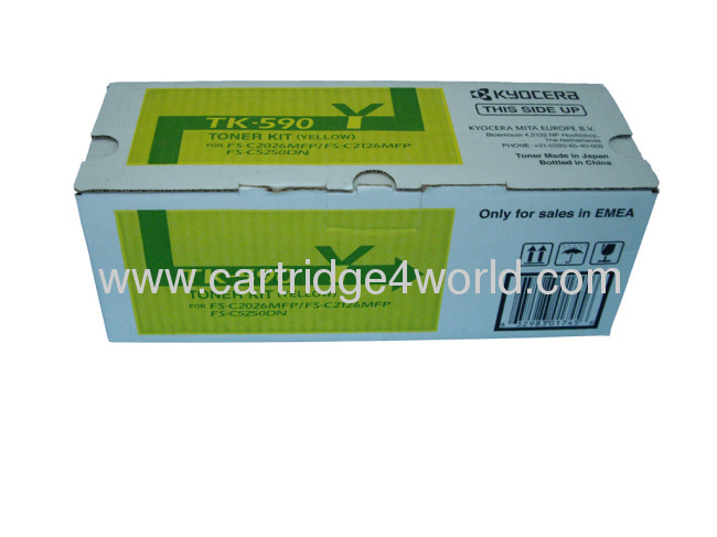 Easy to use Cheap Unequal in performance Recycling Kyocera TK-590 Y toner kit toner cartridges