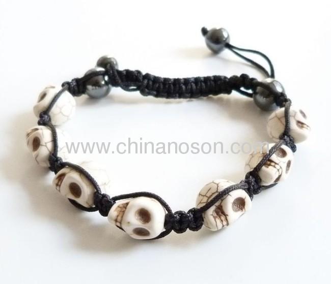 Fashion Colorful Skull Shamballa Bracelet