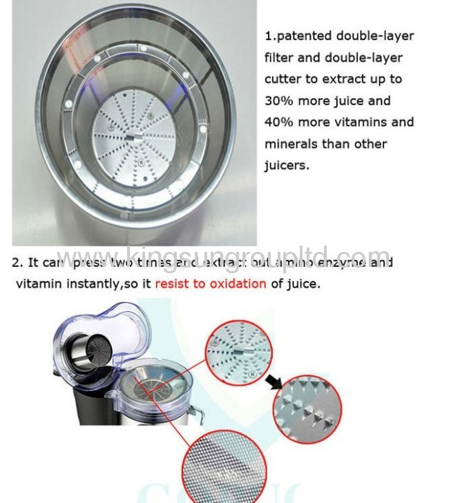 heavy duty juicer double-layer filter LCD display juicer