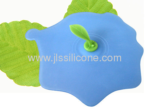 new silicone kitchen tools Tea leave decorated silicone teacup lid