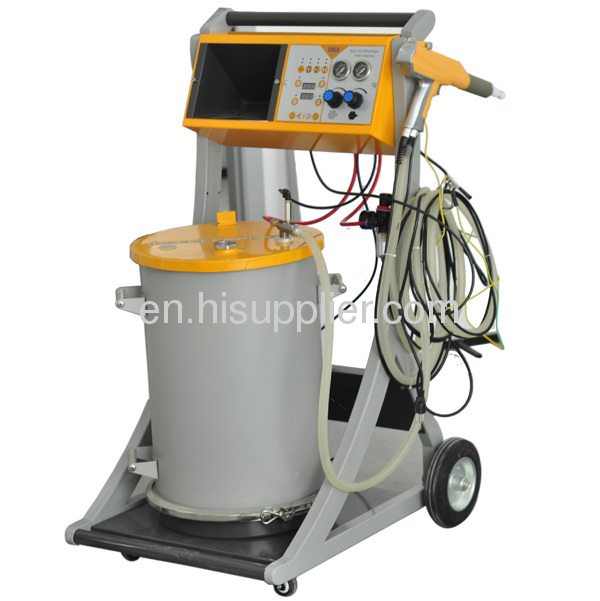 frame powder coating system