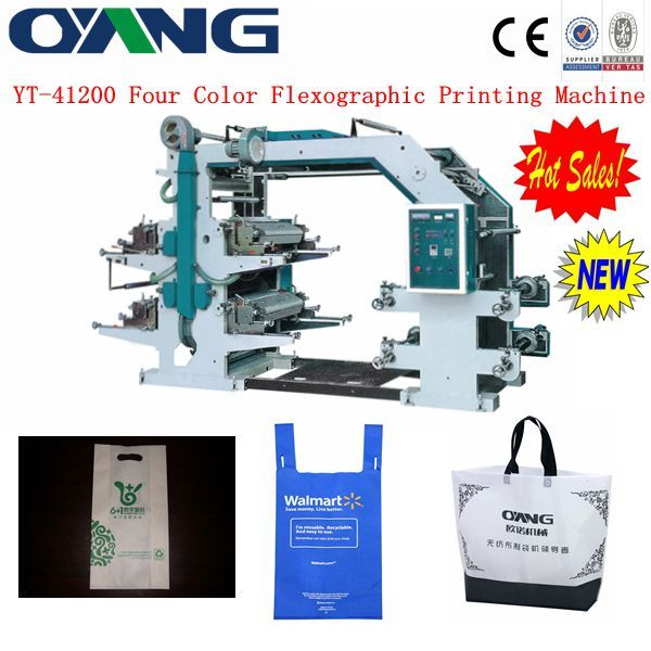 YT-41200 Four Color Flexographic Printing Machine Price In China