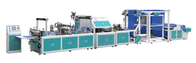 ONL-XB700-800 Automatic non woven box bag making machine with online handle attach